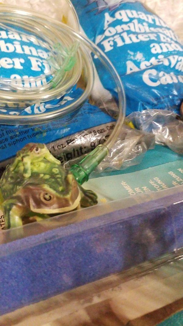 Random pond treatment salt water fish tank lot water clear