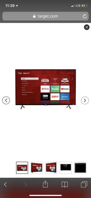 "TCL 40"" 1080p 120Hz CMI Roku Smart LED TV - Black for Sale in San Leandro, CA"