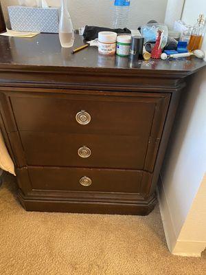 Free Dark Wood small dresser for Sale in Whittier, CA