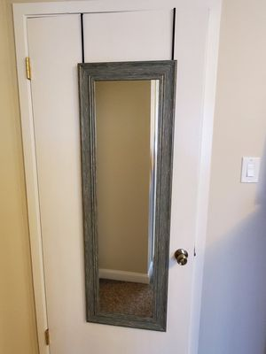 Hanging, Full-length Mirror - Blue Beached Wood-style frame for Sale in San Francisco, CA
