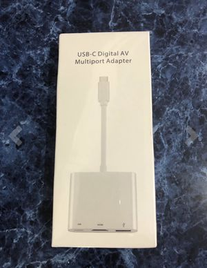 USB-C to HDMI Adapter USB 3.1 Type C to HDMI 4K Multiport AV Converter with USB 3.0 Port and USB C Charging Port compatible iPad MacBook/Chromebook P for Sale in Lake Forest, CA