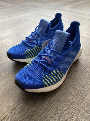 Adidas Pulse Boost HD Shoes Running Blue Solar Yellow Kids Size 6 EF0920 for Sale in Clinton, MD