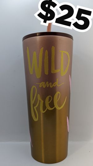 New pink/gold Starbucks wild and free cup for Sale in Los Angeles, CA