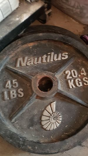 2 weight (45lbs) and 1 bar for Sale in Moreno Valley, CA