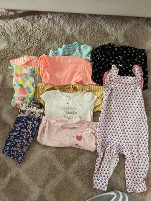 Baby clothes. Rompers, onesies, shorts,pants for Sale in Ontario, CA