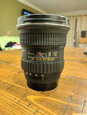 Tokina 12-24mm f/4 PRO DX wide angle lens for Nikon for Sale in Colma, CA