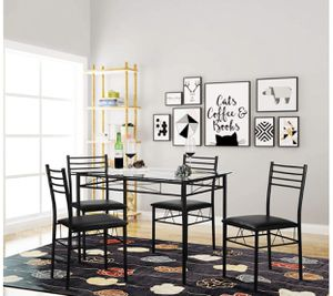 Glass top dining room table with 4 chairs for Sale in Glastonbury, CT