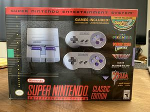 Super Nintendo Classic 2 controllers games included for Sale in Dallas, TX