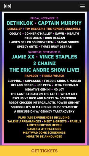 2 Adult Swim Festival Saturday GA Tickets for Sale in Alhambra, CA