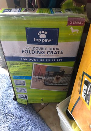 Dog crate folding xsmall dog for Sale in Miami, FL