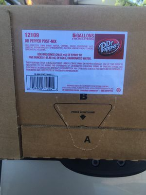 Dr Pepper 5 gallons syrup for fountain soda drinks for Sale in St. Louis, MO
