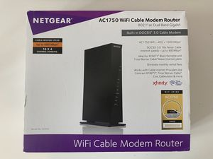LIKE NEW - Netgear AC1750 WiFi Cable Modem Router for Sale in Windermere, FL