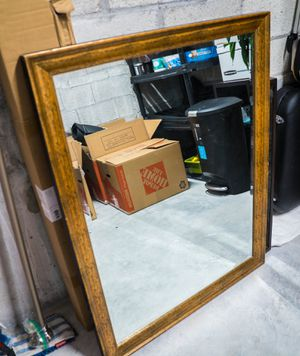 Large wooden frame mirror for Sale in Fort Lauderdale, FL