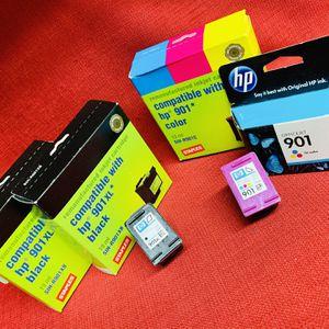 6-NEW-Genuine HP/Staples 901/XL Tri-color(3)/Black(3) Ink Cartridge Sealed for Sale in Las Vegas, NV