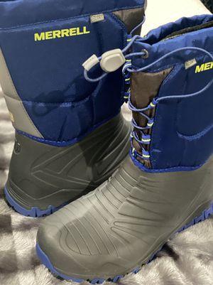 Merrell Snow Quest Waterproof Gray/Cobalt Boots for Sale in Jacksonville, FL