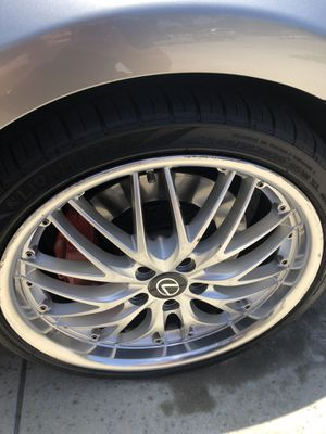 """20"""" (5*114.3) staggered wheels and tires. for Sale in Oxnard, CA"""