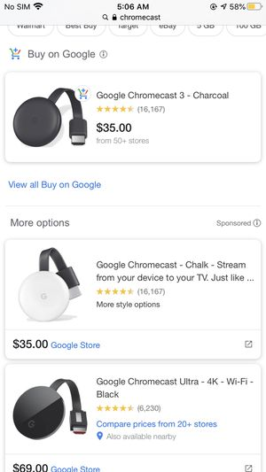 Google chromecast 3 for Sale in Queens, NY