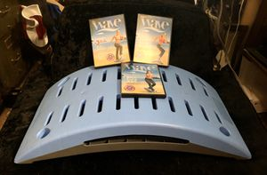 The WAVE Exercise System by The Firm Step Workout Board Blue With 3 DVD's and Mat for Sale in Burlington, NJ