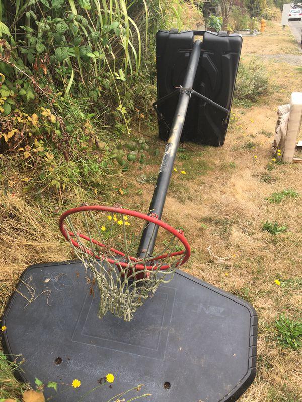 Free basketball hoop and stool
