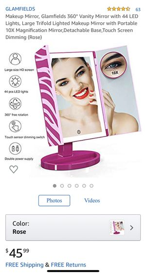 Brand new Makeup Mirror 360° Vanity Mirror with 44 LED Lights, 10X for Sale in Huntington Beach, CA