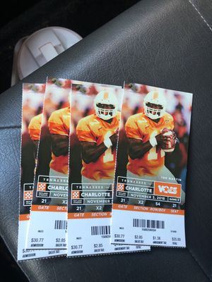 4 tickets today's game for Sale in Knoxville, TN