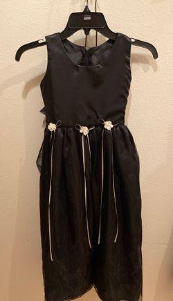 Black flower girl formal party dress girls 8 for Sale in Portland,  OR