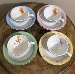 Disney Winnie the Pooh and Friends Ceramic Bowls and Teacups, 9 Piece Set (Mint Condition) for Sale in Miami, FL