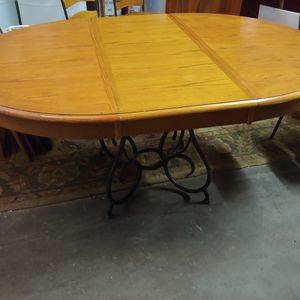 Wood & Metal Kitchen Table with 4 Chairs for Sale in Raleigh, NC