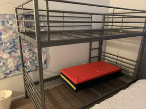 Bunk bed. Metal twin size from ikea for Sale in Grand Terrace, CA