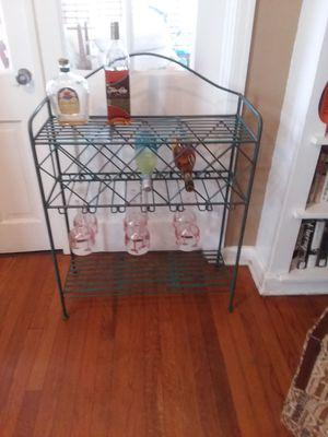 Vintage wrought iron wine/bar rack for Sale in Orlando, FL