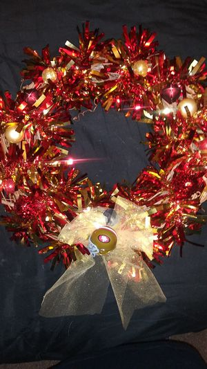 Beautiful hand made 49er wreath. for Sale in Newark, CA