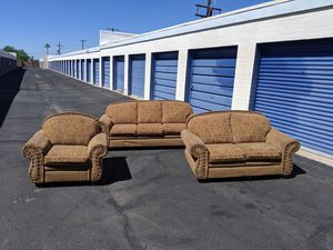 Three Piece Sofa set Delivery available for Sale in Mesa, AZ
