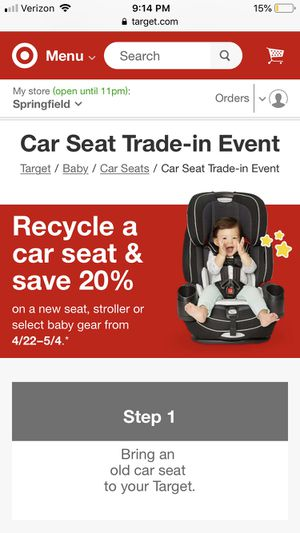 Expired Car Seat to Trade In for Sale in Alexandria, VA