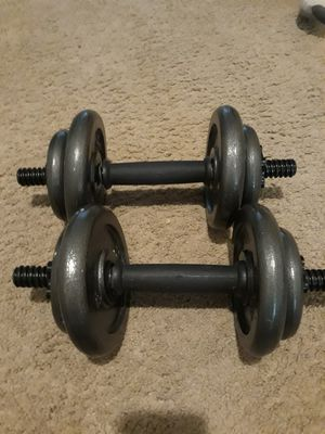 Dumbell set total 40lbs for Sale in Plano, TX