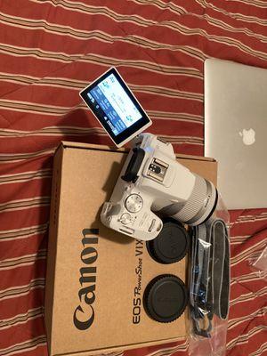 Canon EOS Rebel SL3 EF-S 18-55mm f/4-5.6 IS STM Lens Kit White for Sale in Lawrenceville, GA
