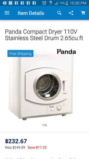 Brand new panda compact dryer perfect for small spaces for Sale in NC, US