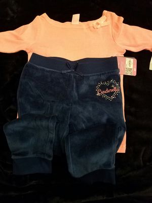 New with tags girls Disney Cinderella velour pant 4T and Carters top size 4T. $12 price firm for Sale in Rockville, MD