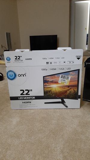 New 22 Inch Monitor - Excellently working for Sale in Gaithersburg, MD