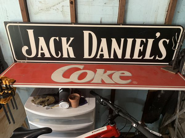 Jack Daniel's and Coke Sign/Shelf