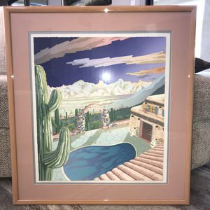 Desert Courtyard Framed Picture for Sale in Scottsdale, AZ