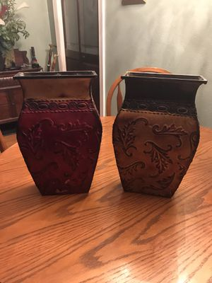 Set of tin flower vases for Sale in Sanford, FL