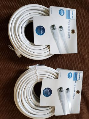 Philips 50ft. Coax cable for Sale in Corfu, NY