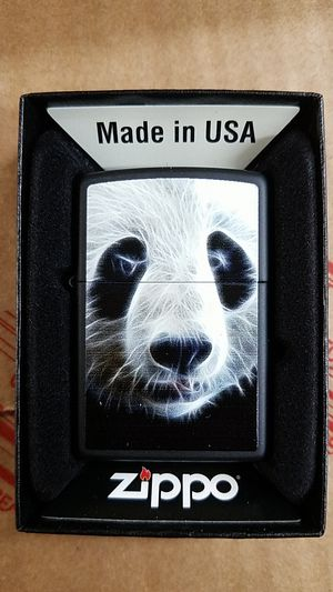 Zippo panda black matte 28358 for Sale in Los Angeles, CA
