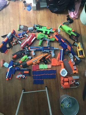 Nerf gun lot, worth 350, over 100 darts! for Sale in Atlantic Highlands, NJ