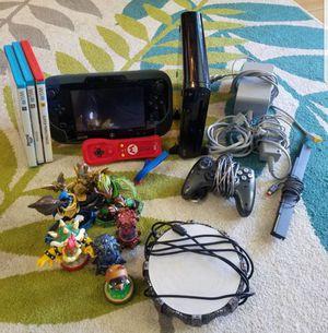 Wii U console, games, 2 remotes, skylanders imaginators for Sale in Fort Pierce, FL