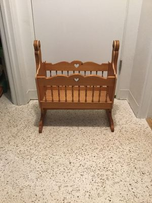 Solid Wood Baby Doll Cradle for Sale in Sarasota, FL