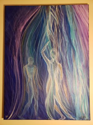 Abstract Figures, Acrylic Painting 18x24 for Sale in Los Angeles, CA
