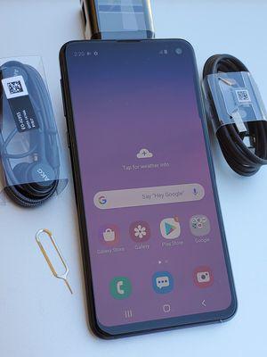 Galaxy S10E 128GB Clean Unlocked Metro T-Mobile AT&T Cricket Sprint Boost Mobile Verizon Telcel Black for Sale in Montebello, CA