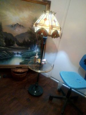 Antique lamp with a stained glass shade for Sale in Sacramento, CA