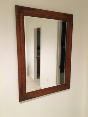 FRAMED BEVELED WALL MIRROR for Sale in Bristow, VA